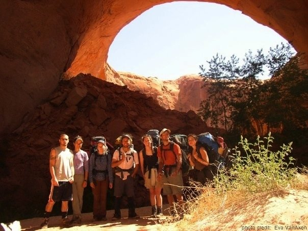 A Group Backpacking In The Desert Southwest